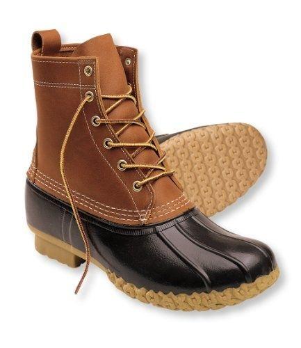 Model Women39s Bean Boots By LLBean 8quot TanNavy  Wellies And Bean