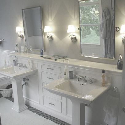 Pedestal Sink Bathroom Design Ideas : Double Pedestal Sinks Design Ideas, Pictures, Remodel, and Decor ...
