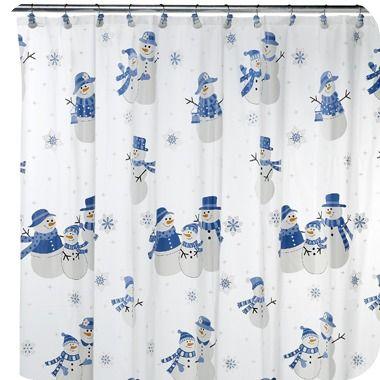 Snowman shower curtain christmas pinterest