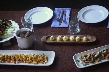 Crispy Polenta Bites with Ricotta and Truffle Honey