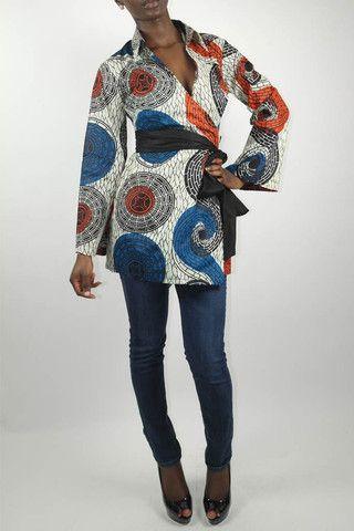 Kimono wrap dress african fashion pinterest