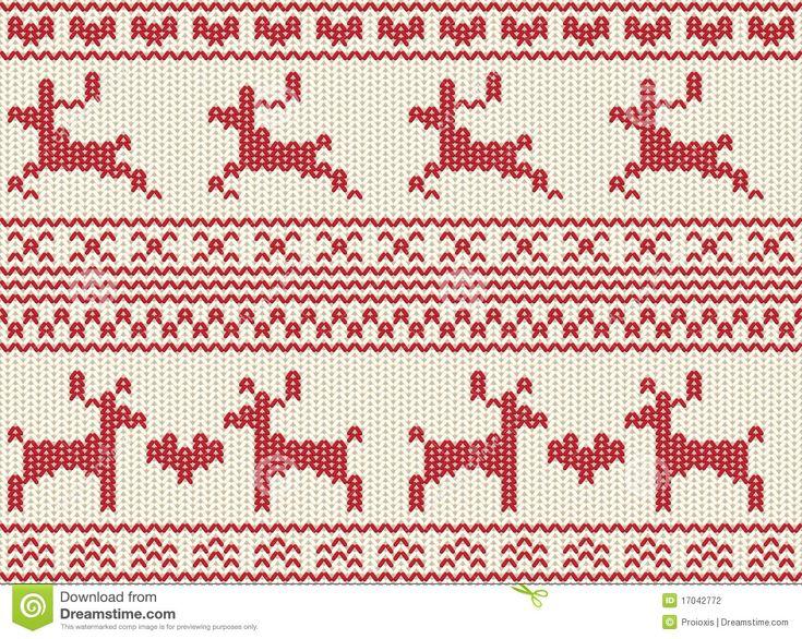 Reindeer fair isle pattern Snow Queen Pinterest