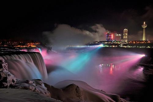 Niagara light show.
