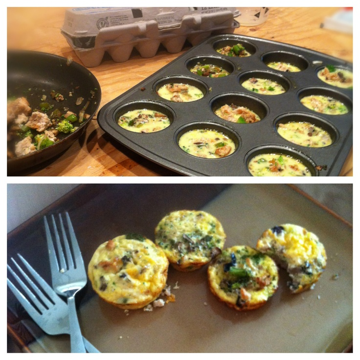 Baked Mini-Frittatas With Broccoli And Three Cheeses ...