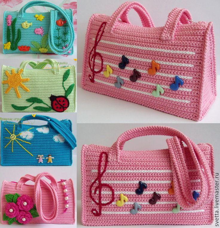 Вязание для девочек сумки 46
