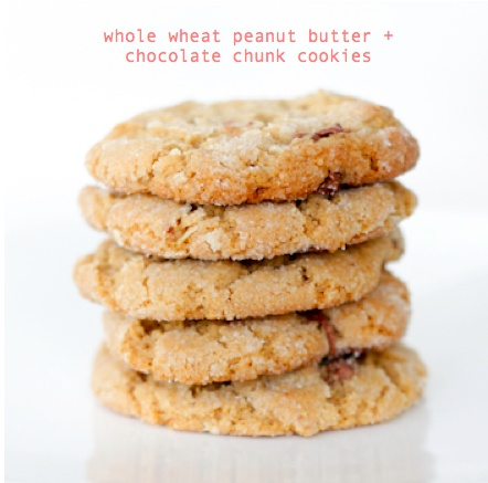 Whole wheat peanut butter + chocolate chunk cookies - according to ...