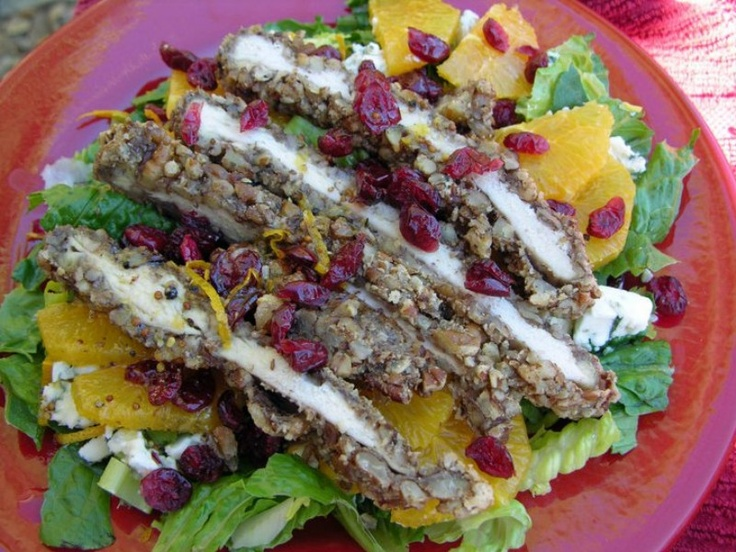 Pecan crusted Chicken Salad | Pin reviews | Pinterest