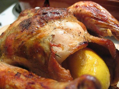 Roast chicken with garlic and sun-dried tomatoes | Chicken | Pinterest