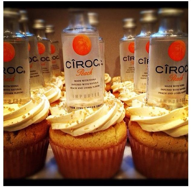 Ciroc cupcakes.. Cute 21st bday idea!
