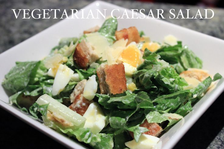Vegetarian Caesar Salad.   Salads   Pinterest