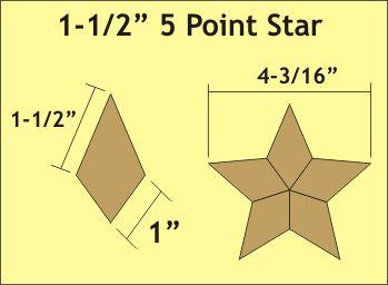 1_5 inch 5 point star graphic BLOCKS Pinterest