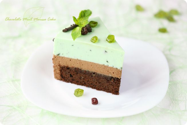 mint chocolate mousse cake | Sugar: Cakes | Pinterest