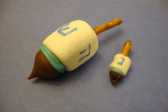 hungry during hanukkah how about a marshmallow dreidel