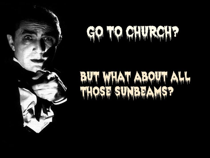 So...why was Dracula afraid to go to church? #Halloween #joke