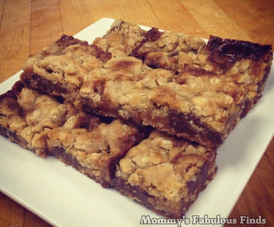 Oatmeal Carmelita | Cookie Bars | Recipe - Mommys Fabulous Finds