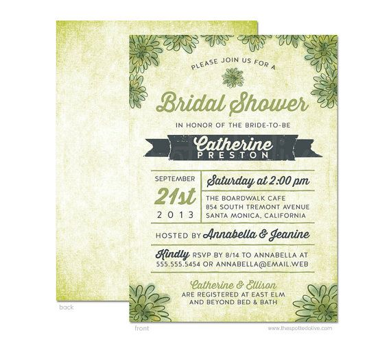 Watercolor Succulents Bridal Shower Invitation by TheSpottedOlive, $17 ...