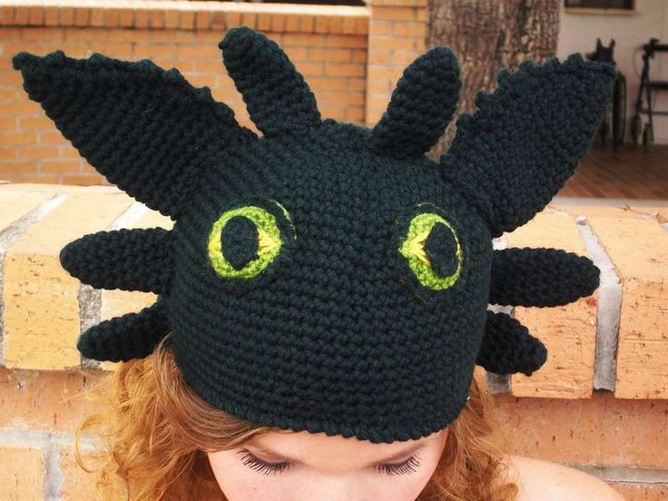 Knitting Pattern Toothless Dragon : Toothless The Dragon Hat