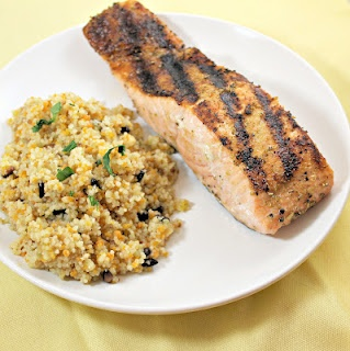 Grilled Salmon and Brown Butter Couscous | YummZah! | Pinterest