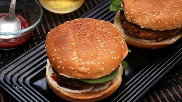 """Tofu Burger because sometimes you gotta have something a lil """"MEATY ..."""