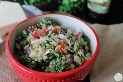 Italian Kale & Quinoa Salad by Brittany @ Britt's Blurbs