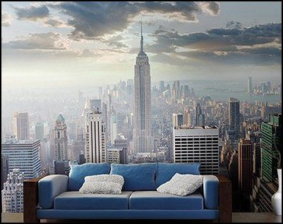 Cyberpunk cityscape mural decor etc pinterest for Cityscape mural