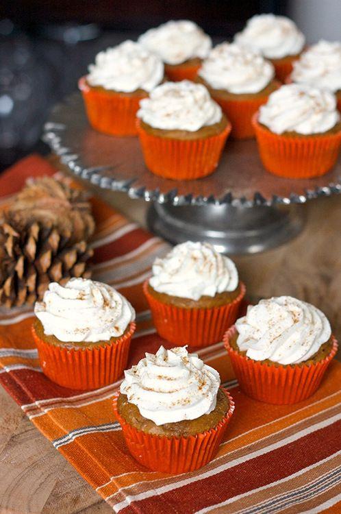 Pumpkin cupcakes. | Desserts! | Pinterest