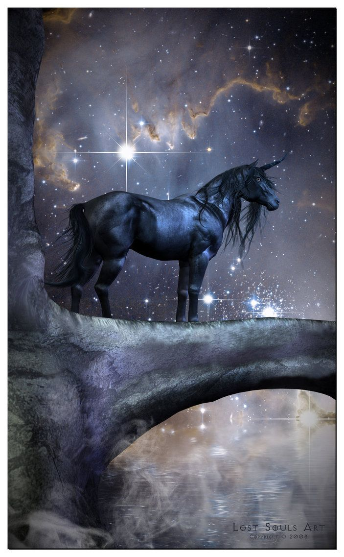 ... black unicorn, the only thing was it was more demon than fairy. (RP) #