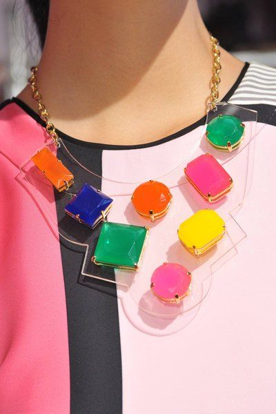 Kate Spade's Lucite and Gemstone Necklace
