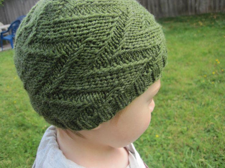 Free Crochet Zig Zag Hat Pattern : Zig zag knit hat Baby Crochet and Knit Pinterest