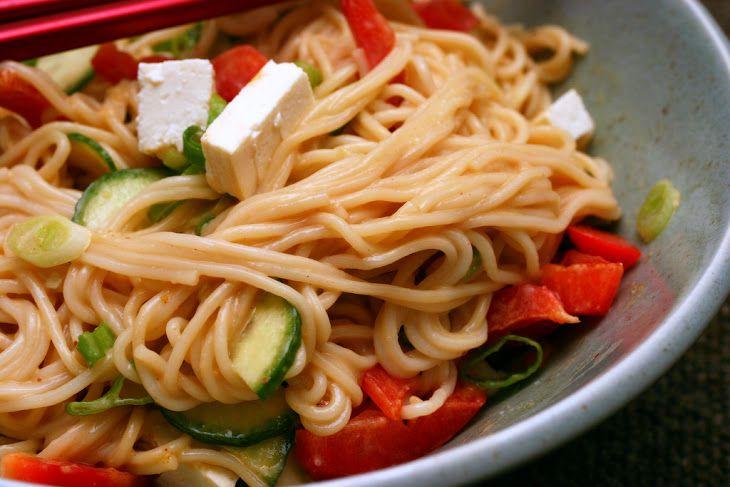 Peanut Sesame Noodles V Recipe | Recipes | Pinterest