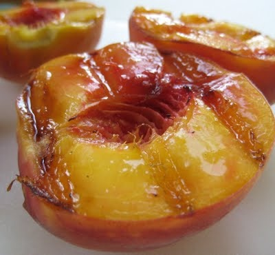 Grilled Peach Salad with Rosemary Vinaigrette - geez that looks good!