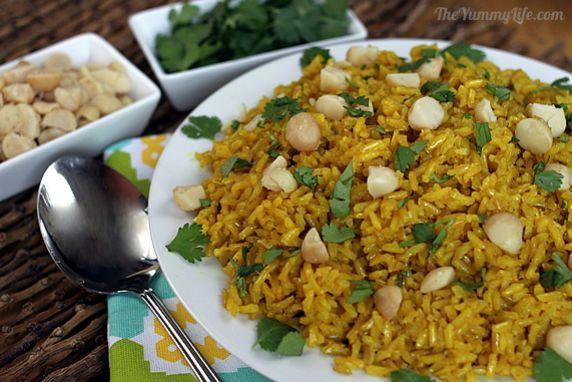 Golden Coconut Brown Rice   Recipe