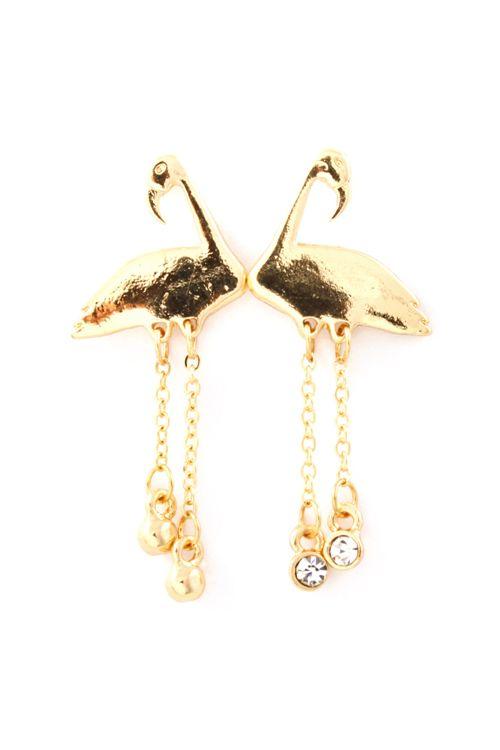 flamingo earrings sugoooi