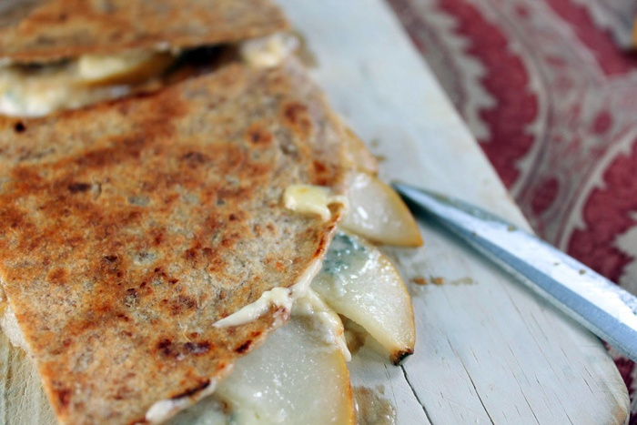 Pear & Blue Cheese Quesadillas. I'll make these with the small ...