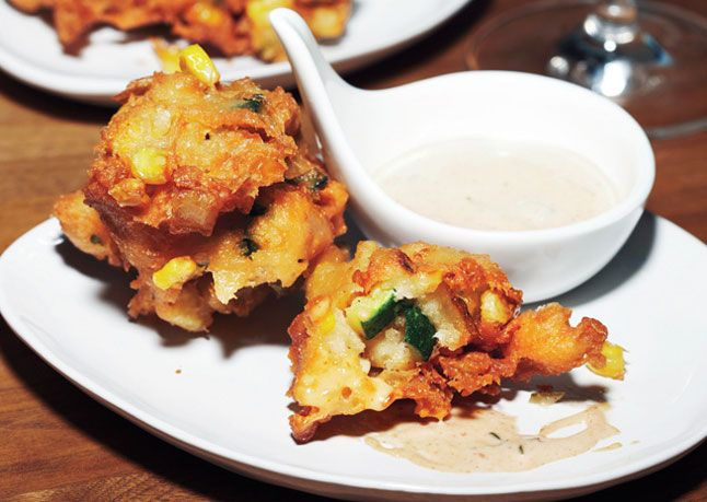 Corn Fritters with Spicy Rémoulade These pillowy, free-form fritters ...