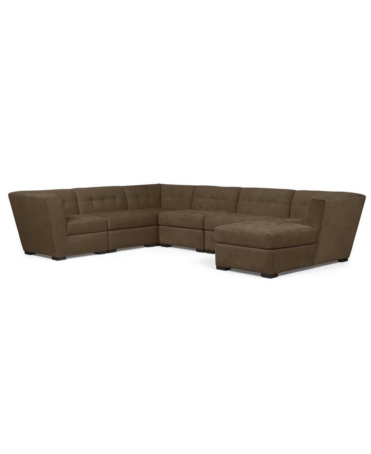roxanne fabric 6 piece modular sectional sofa 2 corner