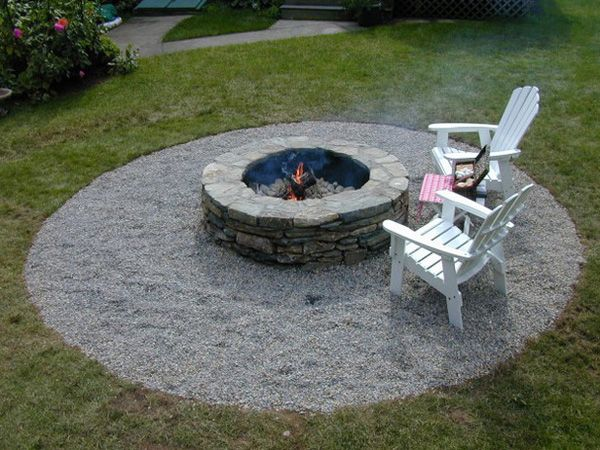 fire pit with pea gravel outdoor living ideas pinterest