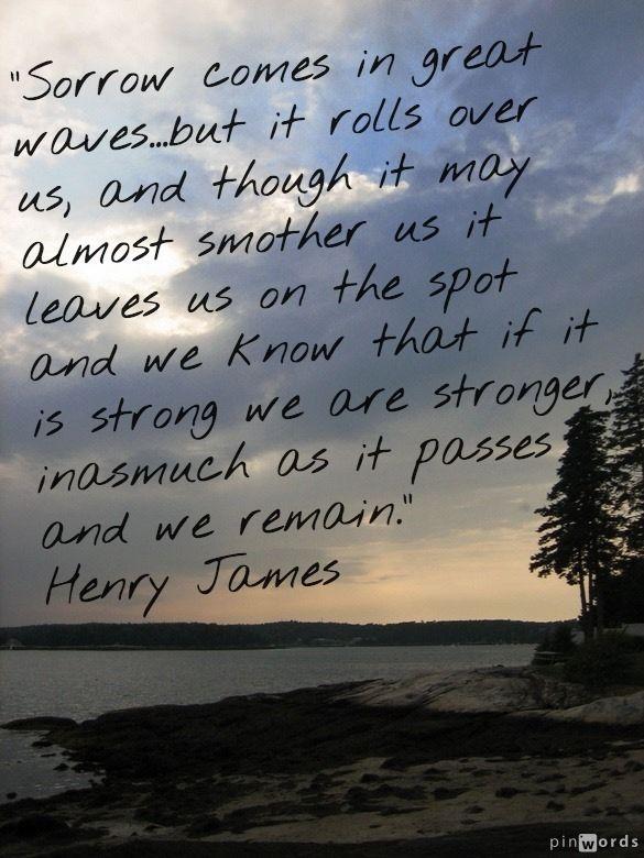 Henry James Quote Sorrow