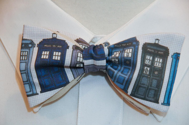 dr who inspired tardis bow tie