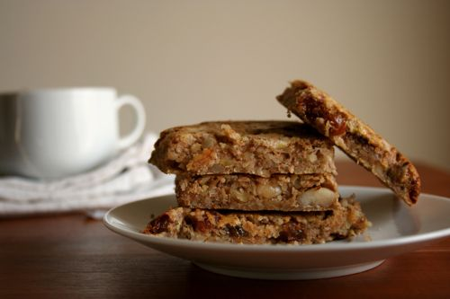 Banana bars: bananas, almonds, walnuts, dried cranberries (or other ...