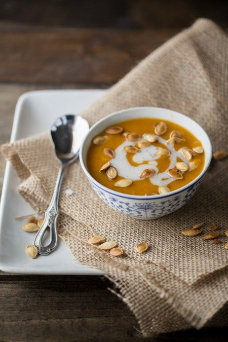 Curried Pumpkin and Coconut Soup | Naturally Ella