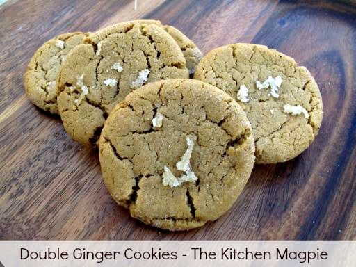 Magpie's Double Ginger Cookies - The Kitchen Magpie