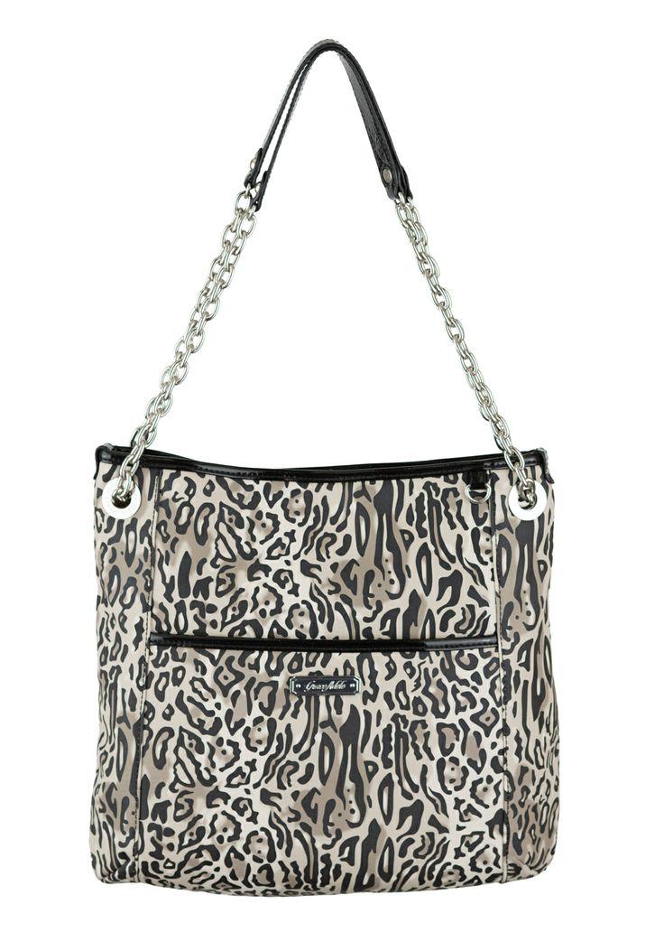Grace Adele Handbag ~ Alex Ocelot ~ $80 Patent quilted handbag with convertible chain straps.  $80 http://kslater.graceadele.us