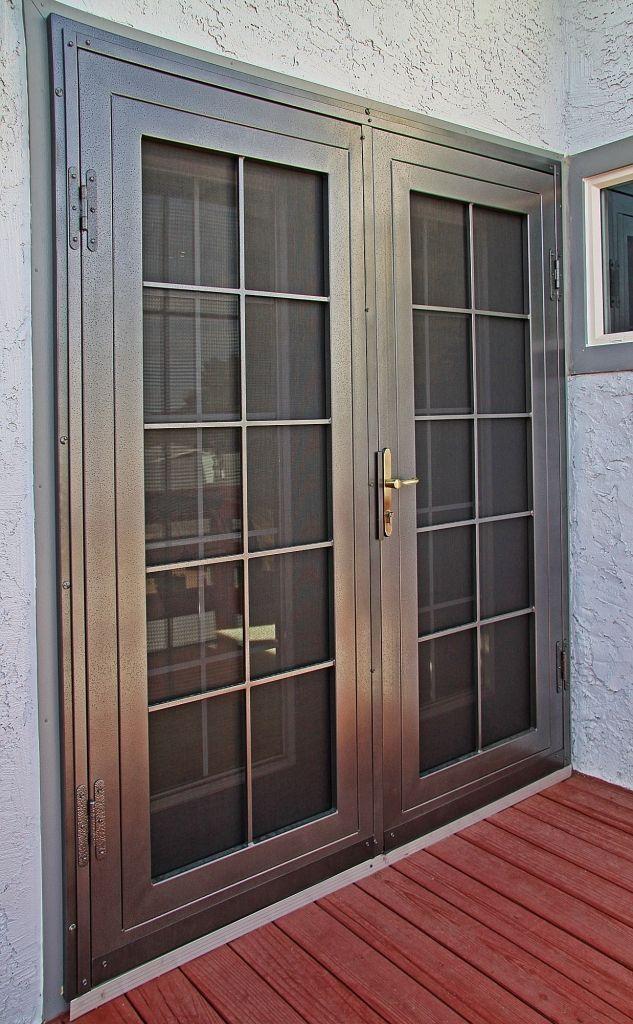 Security screen doors french door security for Security doors for french doors