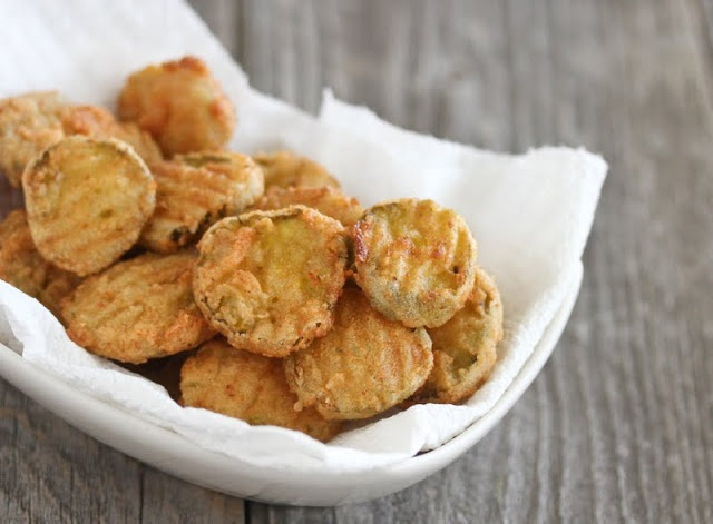 Fried Pickles. Added a little more panko than the recipe called for ...
