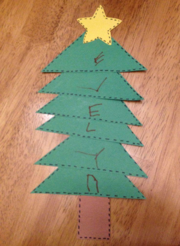 Christmas Tree Crafts Kindergarten : Preschool craft christmas tree arts and crafts for kids