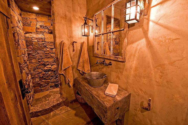 small but creative rustic bathroom rustic design pinterest