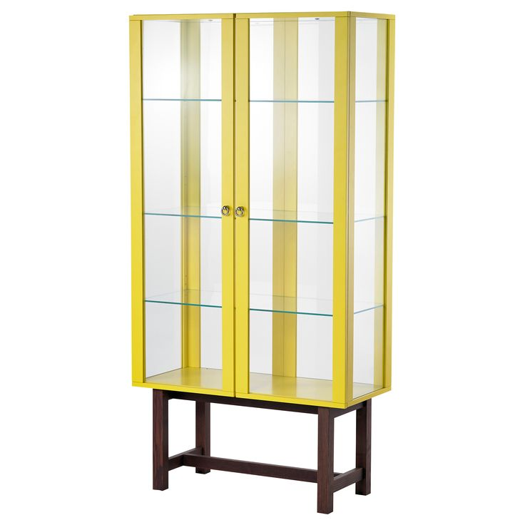 STOCKHOLM Glass-door cabinet - yellow - IKEA | Furniture