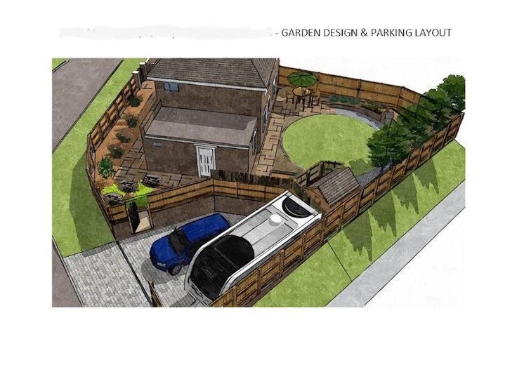 Sketchup garden design garden layout pinterest for Sketchup landscape design