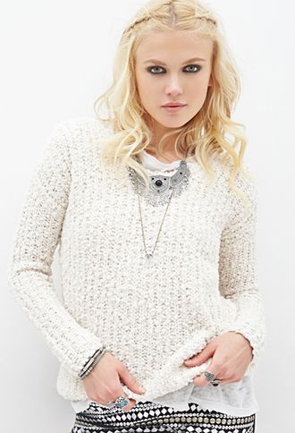 Forever 21 Textured V-Neck Sweater